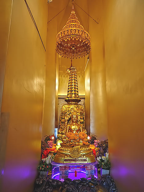 Inside the Golden Mount, a relic of the Buddha is said to be encased in this shrine
