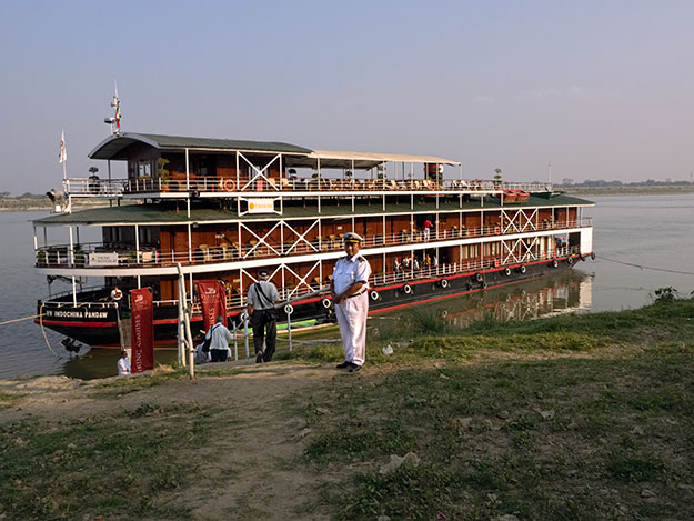 Viking River Mandalay Explorer boat on the Irrawaddy River near Mandalay