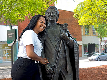 James Brown statue in Augusta, Georgia