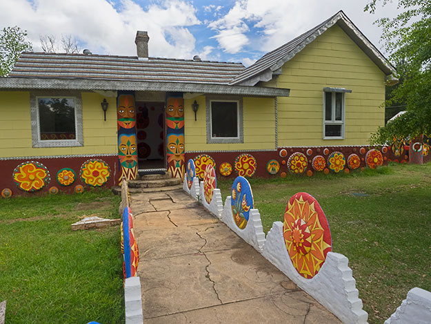The late 19th century farmhouse in Buena Vista, Georgia, that St. EOM turned into one of the most astounding creative art projects in the world