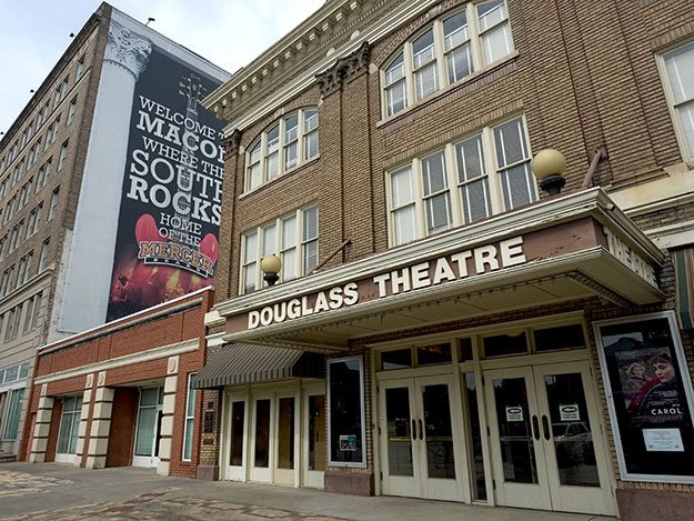 Historic Douglass Theater in Macon Georgia, once the Broadway of African Americans