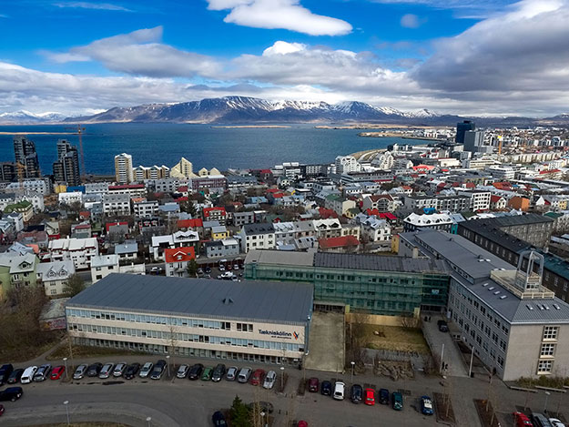 View over Reykjavik, capital city of Iceland