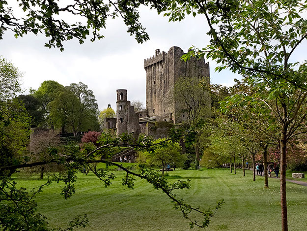 Blarney Castle, framed by its lavish gardens