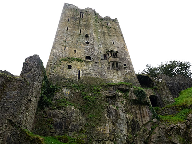 Blarney Castle, built upon a rock outcropping, looks formidable up close