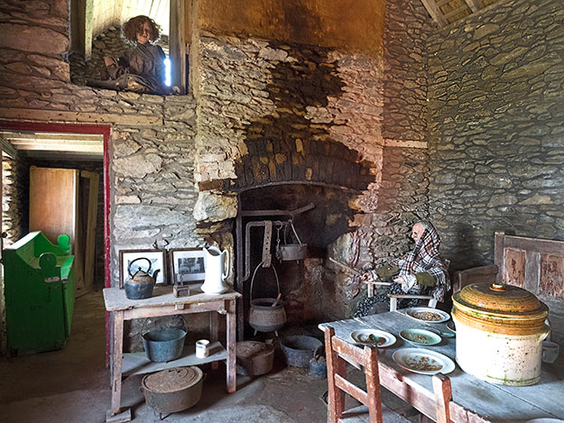 Slea Head Famine Cottages on the Dingle Peninsula tell the story of the Irish potato famine