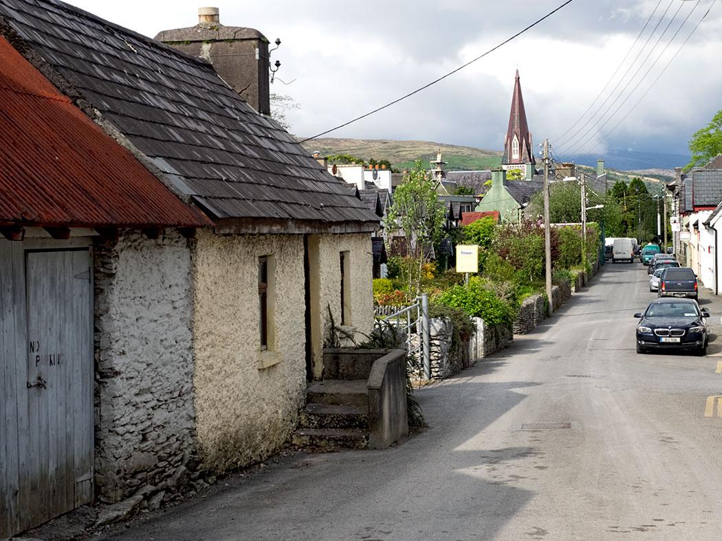 Street scene in Kenmare on the Kerry Peninsula in Ireland