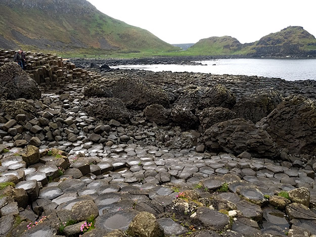 Ancient people, not understanding the geological forces that created these basalt columns, believed they were the remains of a road built by a giant, thus the name Giant's Causeway