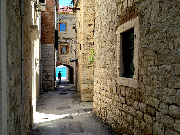 The village of Kastel Novi is comprised of old stone houses and narrow lanes