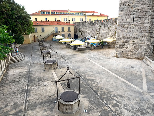 Five Wells Square in Zadar, Croatia, one of the most beautiful cities found along the Dalmatian coast