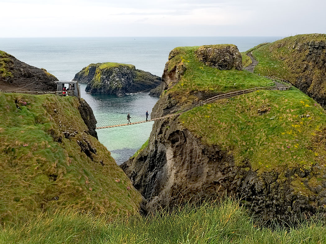 Carrick-a-Rede Rope Bridge in County Antrim, Northern Ireland