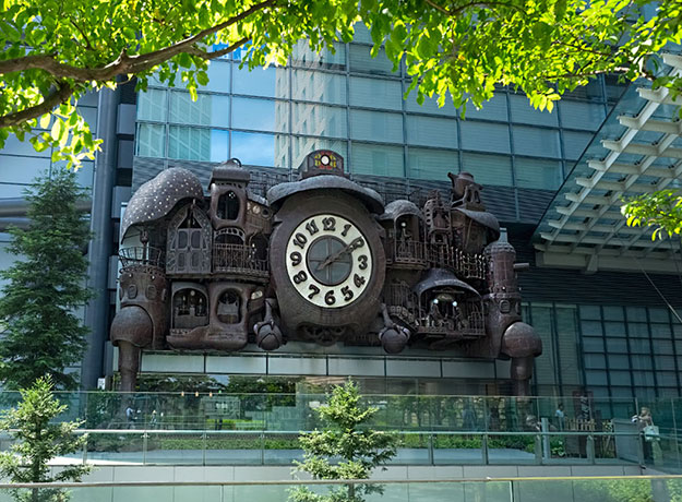 Really Big Clock on the face of the Nippon TV Building in Tokyo