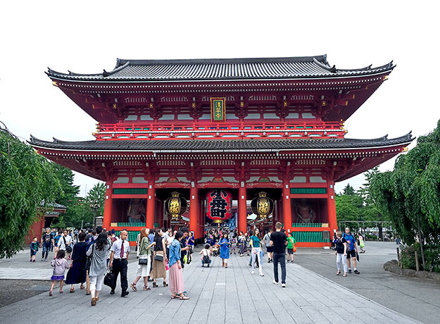 Senso-ji Temple, the spiritual heart of Tokyo, Japan, is another must see sight when visiting Japan