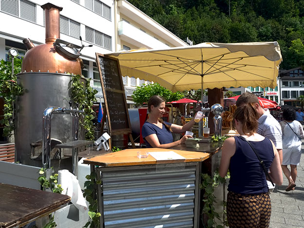 Beer on tap at National Day in Lichrenstein