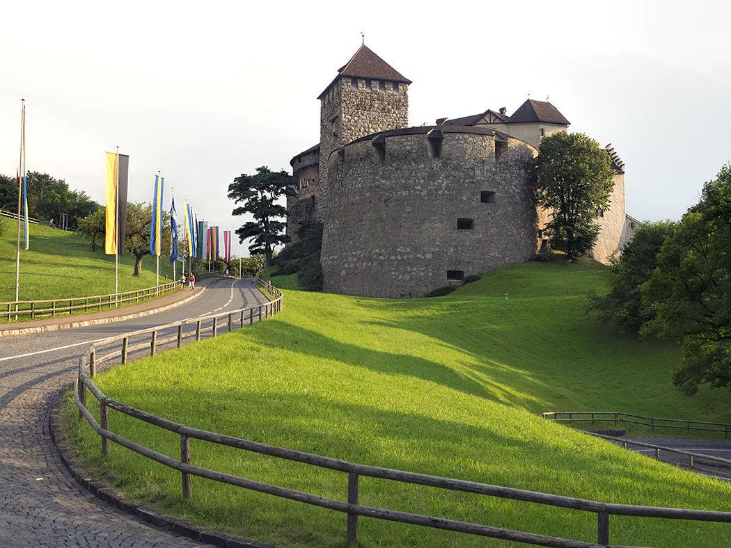 Vaduz Castle, the palace and official residence of the Prince of Liechtenstein
