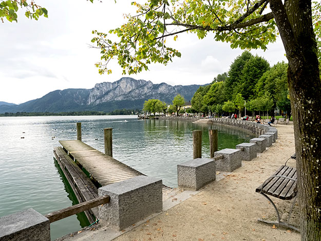 Mondsee was one of two lakes we visited on our return day trip from Vienna to Salzburg, Austria