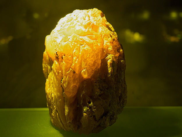 Large chunks of transparent amber were transported along the Amber Way, which began in the Baltic States and terminated in ancient Rome