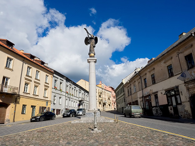 The Angel of Uzupis, a monument said to trumpet the eternal right to artistic freedom