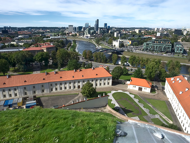 View over Vilnius from atop Gediminas Hill