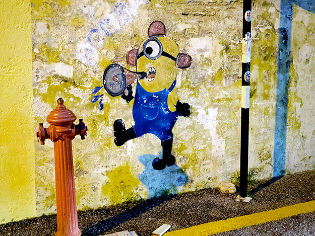 """""""Minion and Fire Hydrant"""" is found on Ah Quee Street"""