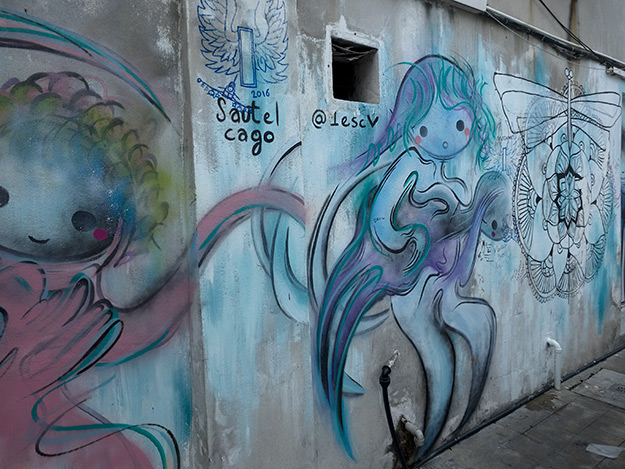 More street art on the walls of the Ping Seng Hotel on Love Lane in George Town