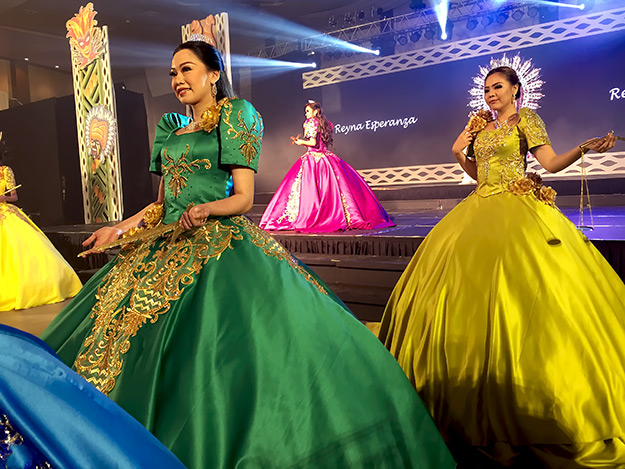 Filipino beauty queens parade at the Opening Night ceremony at TBEX in Manila 2016