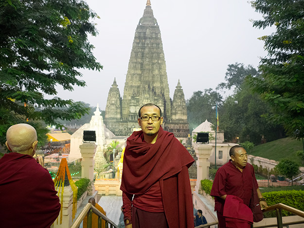Lama Pema, my teacher at the Mahabodhi Temple in Bodh Gaya, India