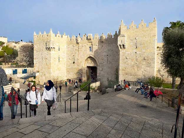 Damascus Gate is one of the major entrances into the Old City of Jerusalem
