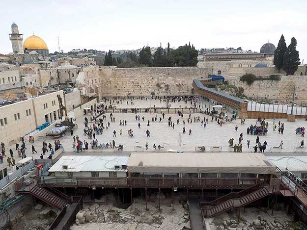 The Western Wall (sometimes referred to as the Wailing Wall) is one of the most revered sites in the Holy City of Jerusalem