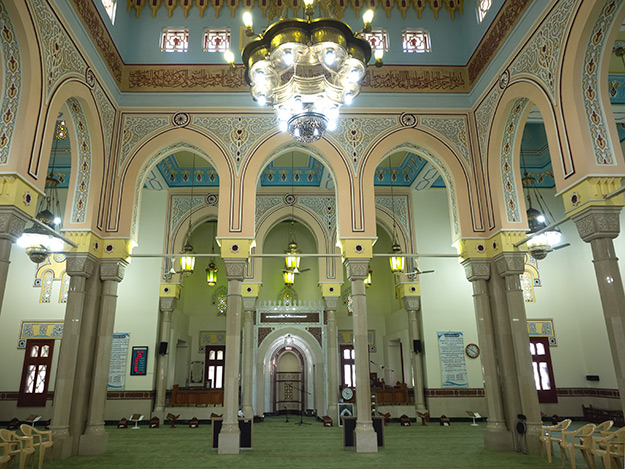 Interior of the Jumeirah Mosque, one of the few in Dubai that non-Muslims can visit