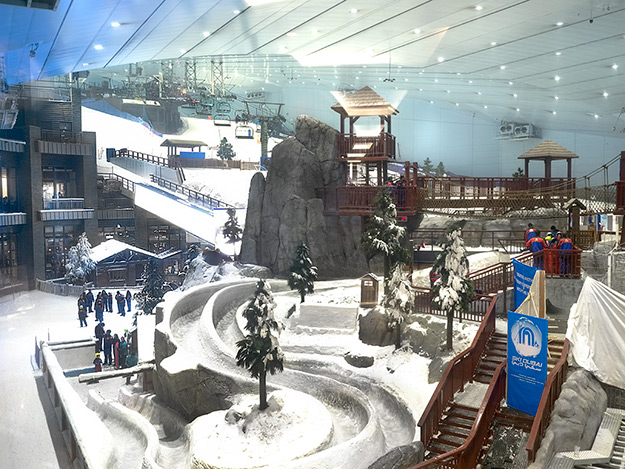 Ski Dubai, located inside the Mall of the Emirates in Dubai, UAE
