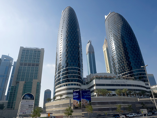 Damac's Dubai Park Towers are one of several high-rise projects that have been built as twin towerss