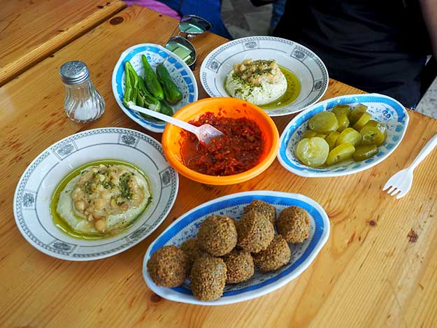 The hummus and falafel at Ikermawi Restaurant was the best I've ever tasted