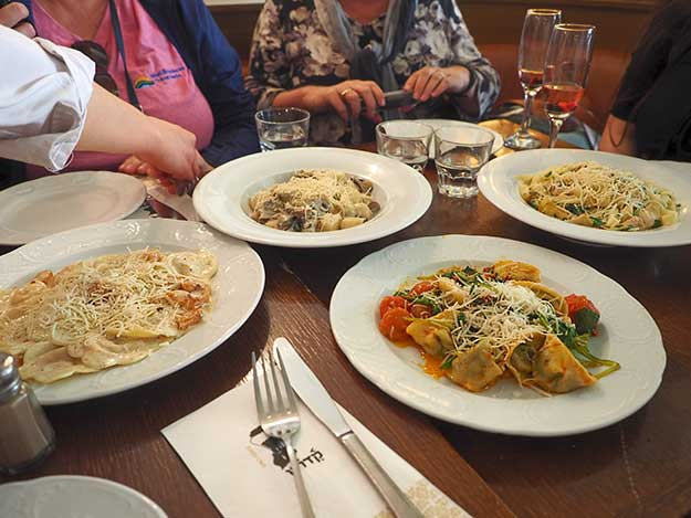 Pasta dishes at Kadosh Cafe are indicative of the new gourmet Israeli food scene in Jerusalem