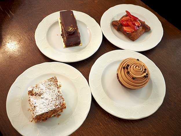 Just four of the dozens of home made pastries available each day at Kadosh Cafe