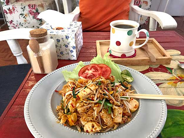 The Pad Thai at Cozy Cafe is delicious!