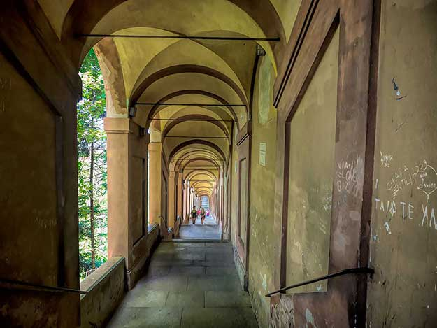 The Portico di San Luca, stretches for nearly 3.5 miles, making it the longest in the world. It leads to the hilltop Santuario Madonna di San Luca