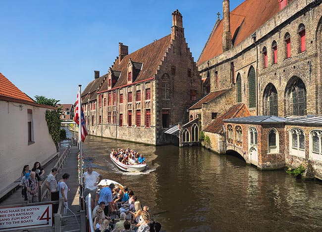 Boat rides on the canals of Bruges, Belgium, are one of the best ways to tour this historic Flemish city