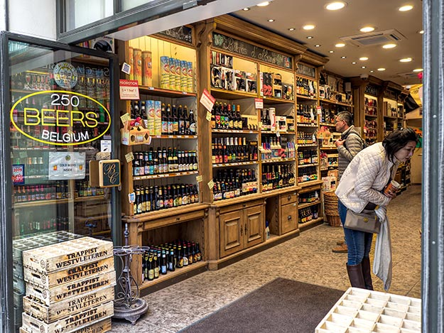 Belgium is famous for its scores of beer varieties, many of which are displayed in this store in Brussels