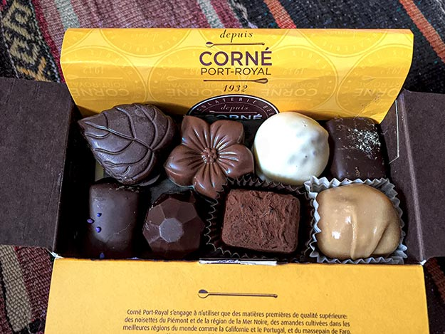 Chocolate sampling is among the most popular things to do in Belgium. My take away from Corne Pot-Royal - 24 delicious varieties of chocolate.