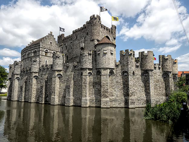 The 12th century Gravensteen Castle was one of the highlights of my day trip to Ghent, Belgium