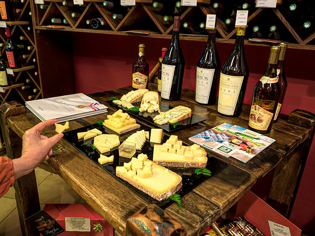 Comte cheese tasting at Fromagerie Janin in Champagnole, France