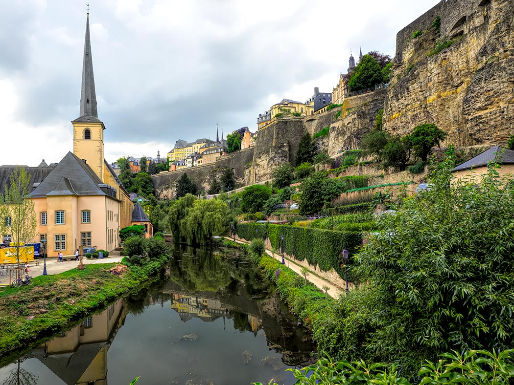 More than 20 miles of casements were dug into the 230-foot high bluff that surrounds the Grund Quarter of Luxembourg City
