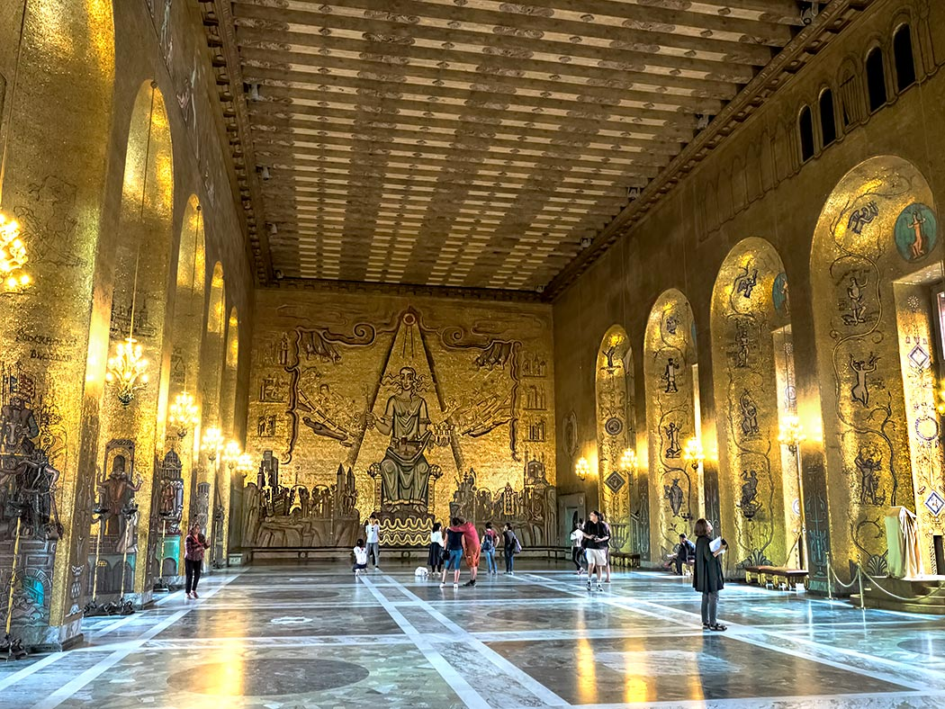 Golden Hall at Stockholm City Hall