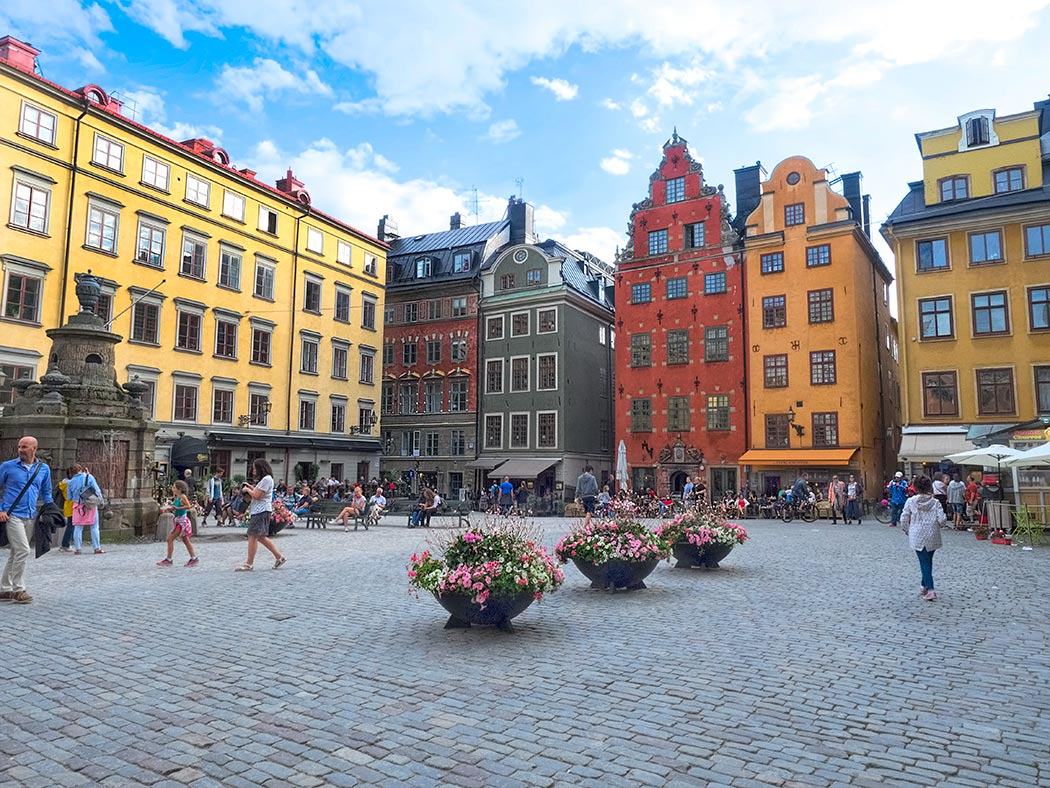 Stortorget, the oldest square in Stockholm, Sweden