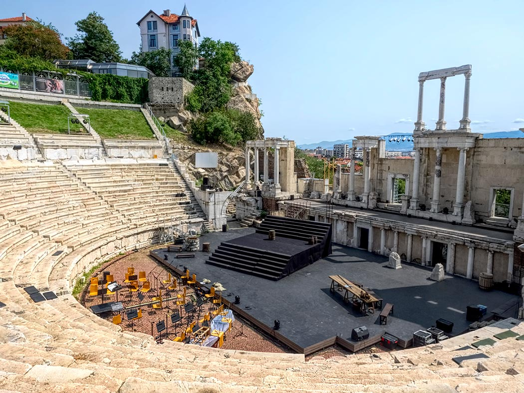 This ancient Roman Amphitheater in Plovdiv, Bulgaria, is still being used for present-day concerts and plays