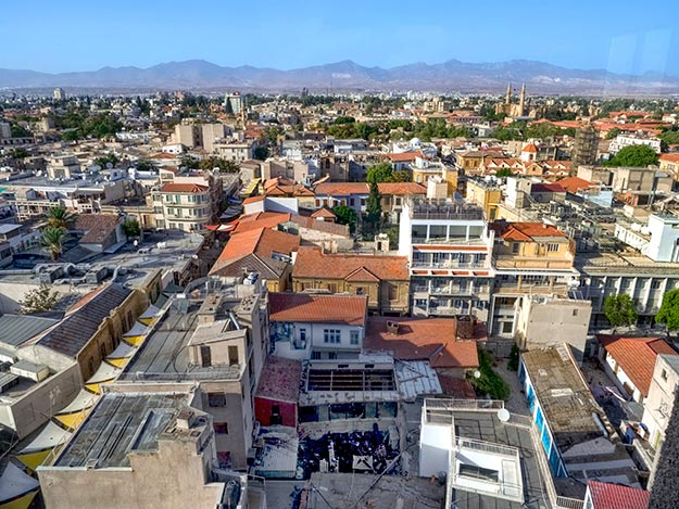 View over Nicosia, Cyprus from the Shacolas Observatory on the Greek side of the capital city