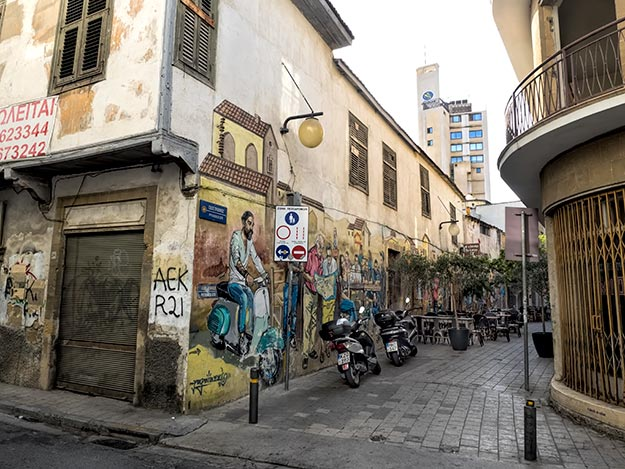 Street art in Nicosia, Cyprus, on the Turkish side of the divided capital city