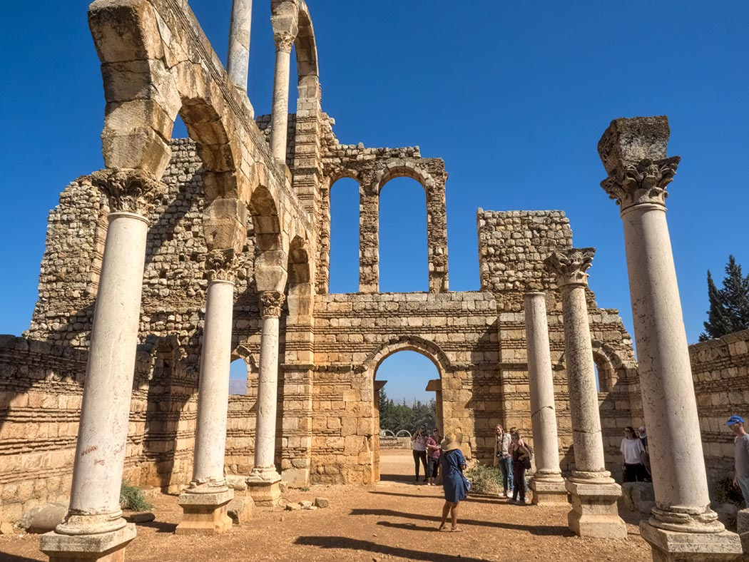Large palace at the Umayyad archeological site at Anjar, in the Beqaa Valley in Lebanon
