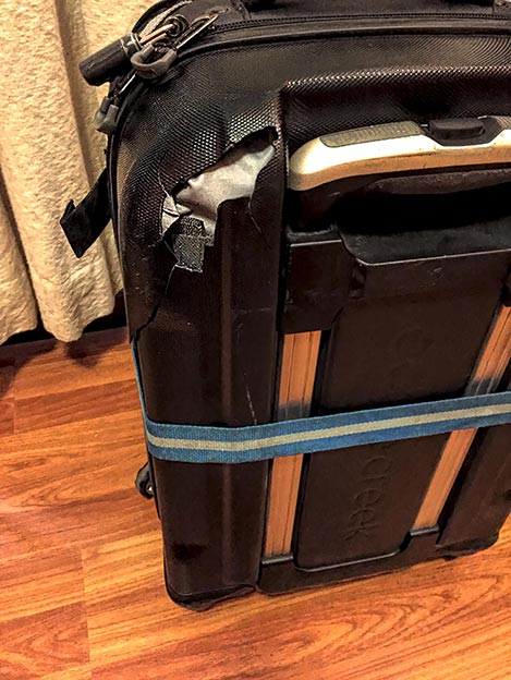Damage to my suitcase caused by Aegean Airlines after two more flights