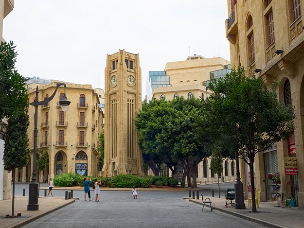 Clock Tower in the center of downtown Beirut, Lebanon